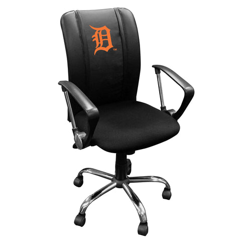 Curve Task Chair with Detroit Tigers Orange Logo