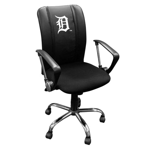 Curve Task Chair with Detroit Tigers White