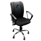 Curve Task Chair with Miami Marlins Primary Logo Panel