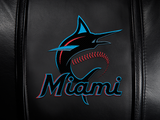 Silver Loveseat with Miami Marlins Primary Logo Panel