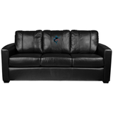 Silver Sofa with Miami Marlins Alternate Logo Panel
