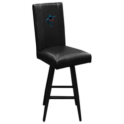 Swivel Bar Stool 2000 with Miami Marlins Alternate Logo Panel