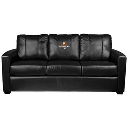 Silver Sofa with Houston Astros 2017 Champions