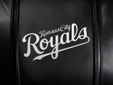 Silver Sofa with Kansas City Royals Wordmark Logo Panel