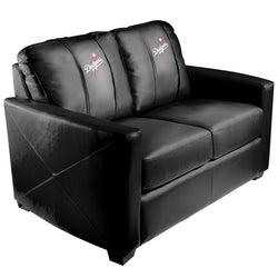 Silver Loveseat with Los Angeles Dodgers Logo