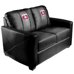 Silver Loveseat with Minnesota Twins Secondary