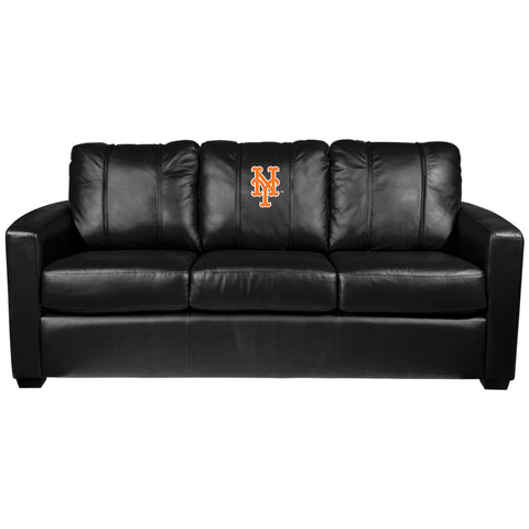 Silver Sofa with New York Mets Secondary