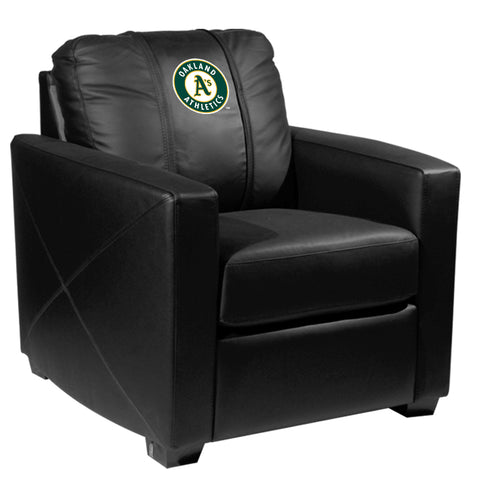 Silver Club Chair with Oakland Athletics Logo