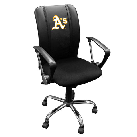 Curve Task Chair with Oakland Athletics Secondary