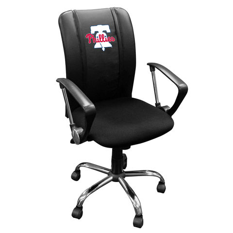 Curve Task Chair with Philadelphia Phillies Primary Logo Panel