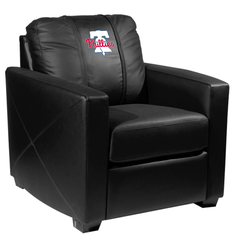 Silver Club Chair with Philadelphia Phillies Primary Logo Panel