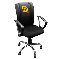 Curve Task Chair with San Diego Padres Primary Logo