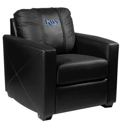 Silver Club Chair with Tampa Bay Rays Logo