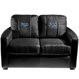 Silver Loveseat with Tampa Bay Rays Logo