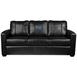 Silver Sofa with Tampa Bay Rays Logo