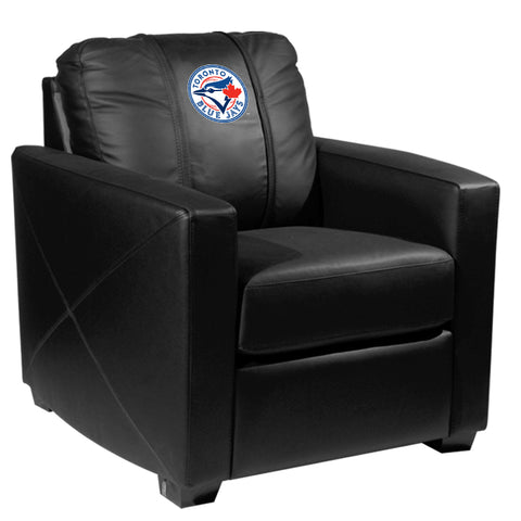 Silver Club Chair with Toronto Blue Jays Logo
