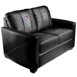 Silver Loveseat with Toronto Blue Jays Secondary