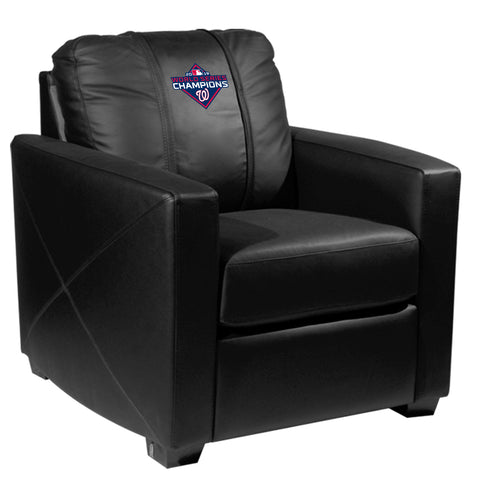 Silver Club Chair with Washington Nationals 2019 Champions