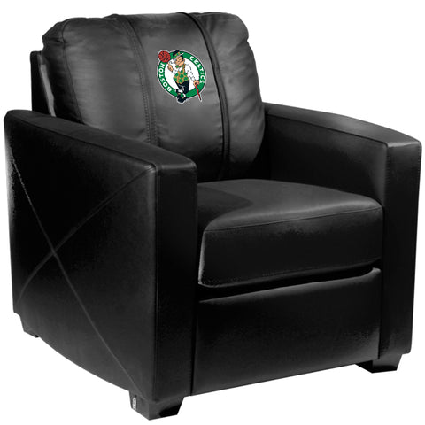 Silver Club Chair with Boston Celtics Logo