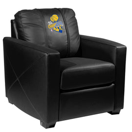 Silver Club Chair with Golden State Warriors 2018 Champions Logo Panel