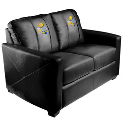 Silver Loveseat with Golden State Warriors 2018 Champions Logo Panel