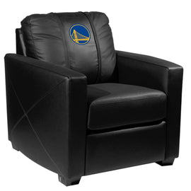 Silver Club Chair with Golden State Warriors Logo