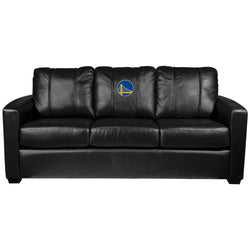 Silver Sofa with Golden State Warriors Logo
