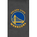 Silver Loveseat with Golden State Warriors Global Logo