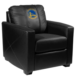Silver Club Chair with Golden State Warriors Global Logo