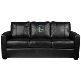 Silver Sofa with Golden State Warriors Global Logo