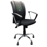 Curve Task Chair with Milwaukee Bucks Logo