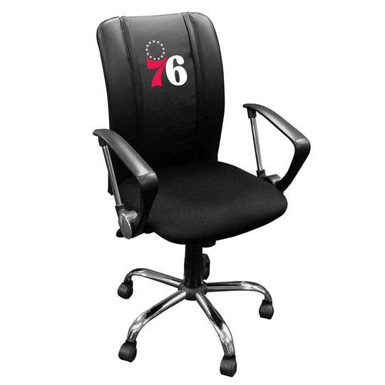 Curve Task Chair with Philadelphia 76ers Secondary
