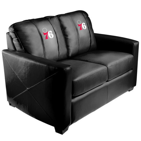 Silver Loveseat with Philadelphia 76ers Secondary
