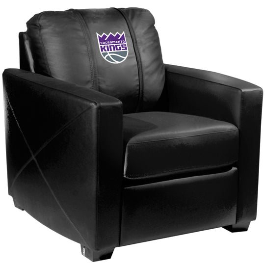 Silver Club Chair with Sacramento Kings Primary Logo