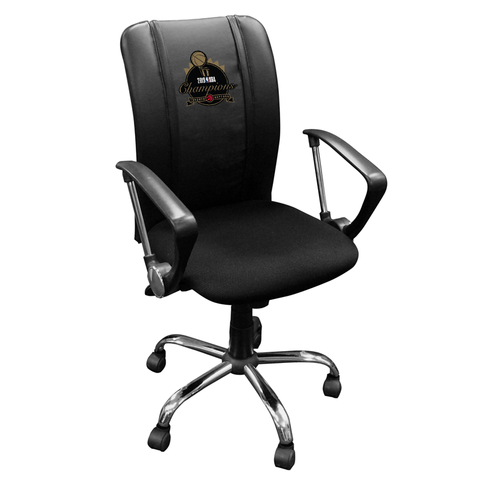 Curve Task Chair with Toronto Raptors Primary 2019 Champions Logo