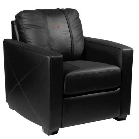 Silver Club Chair with Toronto Raptors Primary 2019 Champions Alternate Logo