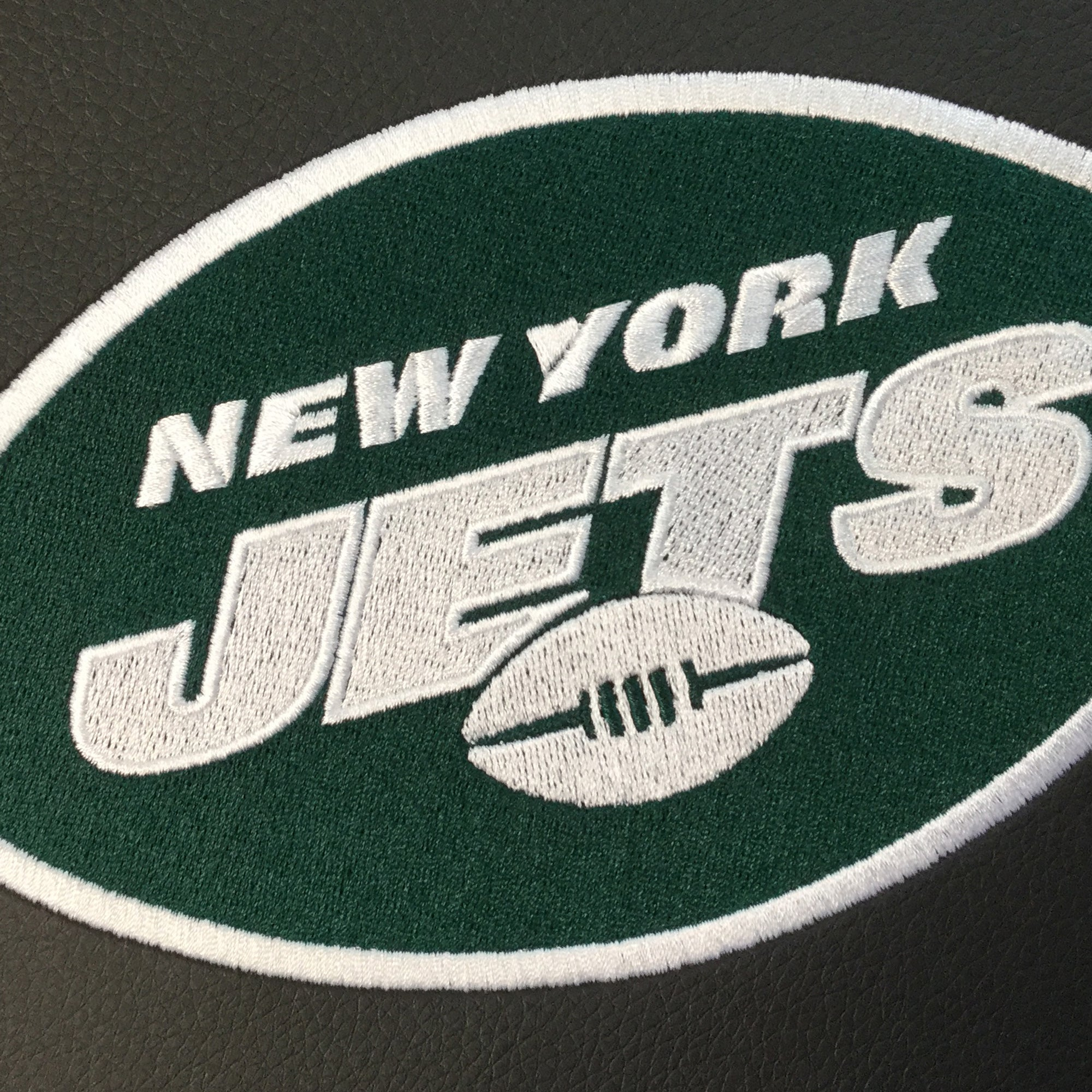 Silver Loveseat with  New York Jets Primary Logo