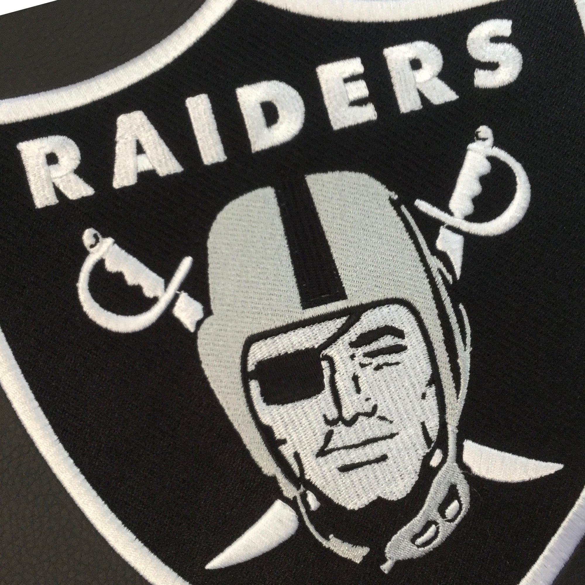 Silver Club Chair with  Las Vegas Raiders Primary Logo