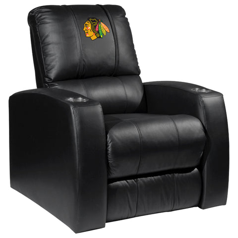 Relax Recliner with Chicago Blackhawks Logo