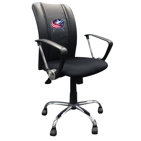 Curve Task Chair with Columbus Blue Jackets Logo