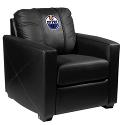 Silver Club Chair with Edmonton Oilers Logo