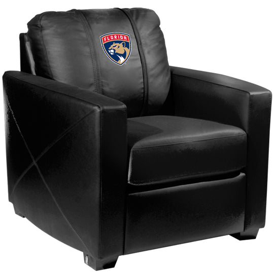 Silver Club Chair with Florida Panthers Logo