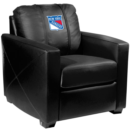 Silver Club Chair with New York Rangers Logo