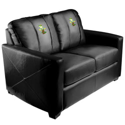 Silver Loveseat with Tree Frog Logo Panel