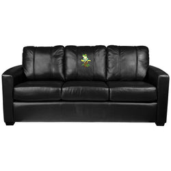 Silver Sofa with Tree Frog Logo Panel