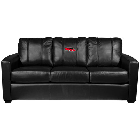 Silver Sofa with Sports Car Gaming Logo