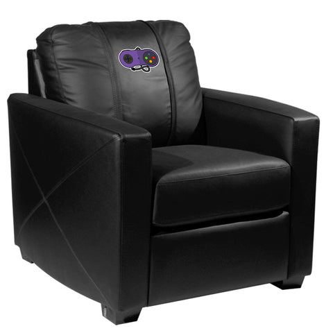 Silver Club Chair with Classic Controller Logo