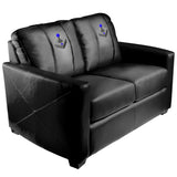 Silver Loveseat with Joystick Gaming Logo