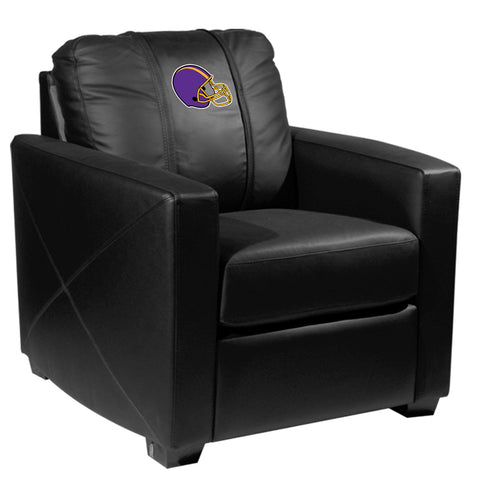 Silver Club Chair with Football Helmet Gaming Logo