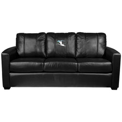 Silver Sofa with Ski Downhill Logo Panel